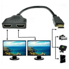 Dual HDMI kábel, HDMI elosztó - Ugyanaz a kép több kijelzőn